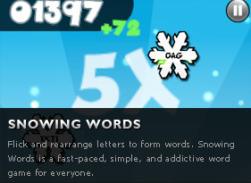 Snowing Words